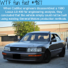 lexus ls 400 wtf fun facts