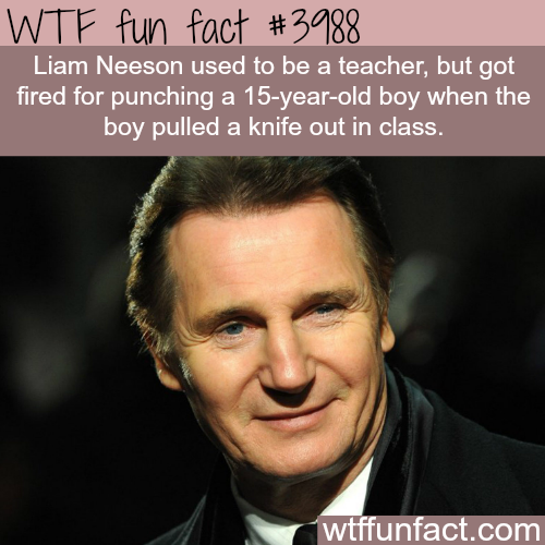 Liam Neeson previous jobs - WTF fun facts