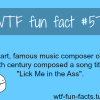 lick my ass mozart