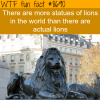 lion statues wtf fun facts