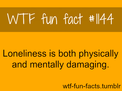 loneliness damage - health facts
