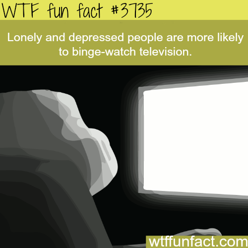 Lonely people watch more TV - WTF fun facts