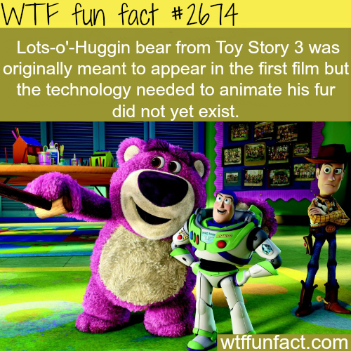 Lots-O'-Huggin bear from Toy Story 3 -WTF funfacts