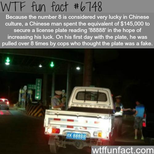 Lucky number eight  - WTF fun fact