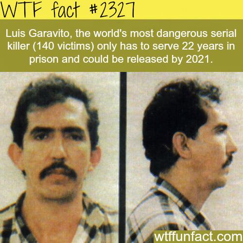 Luis Garavito (Mass Murderer) release date -WTF funfacts