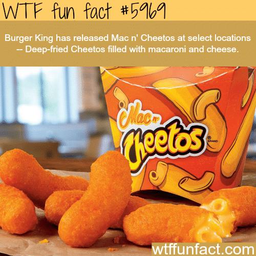 Mac n' Cheetos at Burger King - WTF fun facts