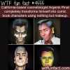 make up artists transforms himself into comic book