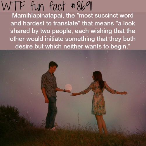 Mamihlapinatapai - WTF fun facts