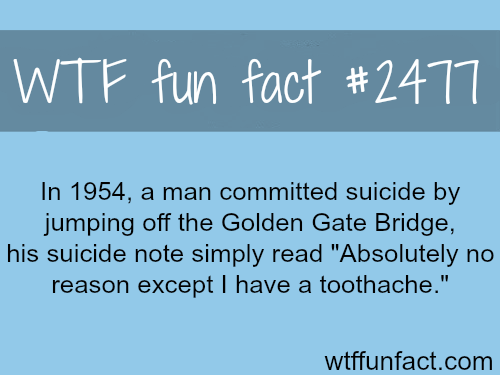 Man commitsuicide. the reason? -WTF funfacts