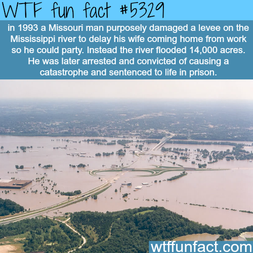 Man floods a whole city so he could party - WTF fun facts