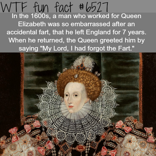 Man leaves England for 7 years for farting in front of the queen -