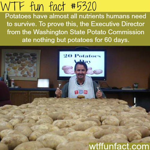 Man only eats potatoes for 2 months - WTF fun facts