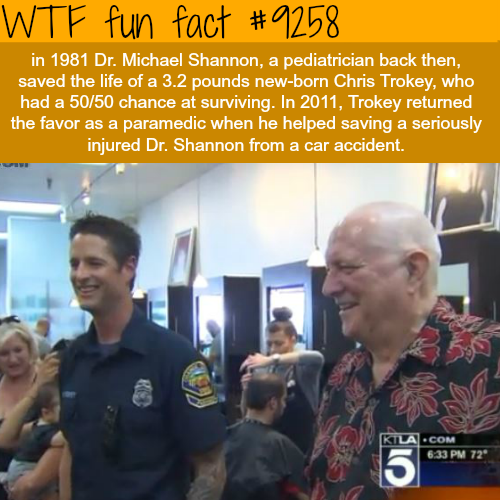 Man saves the life of the doctor who saved his life - WTF fun fact