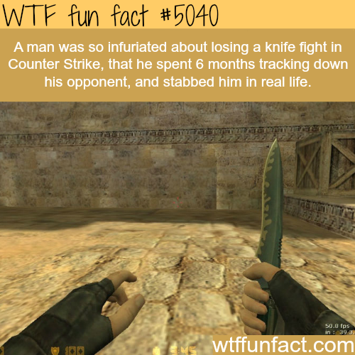 Man stabs a person who stabbed him in a game - WTF fun facts