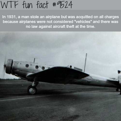 Man stole an airplane and wasn't charged with anything - WTF fun fact
