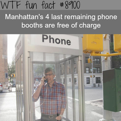 Manhattan's last phone booths - WTF fun facts