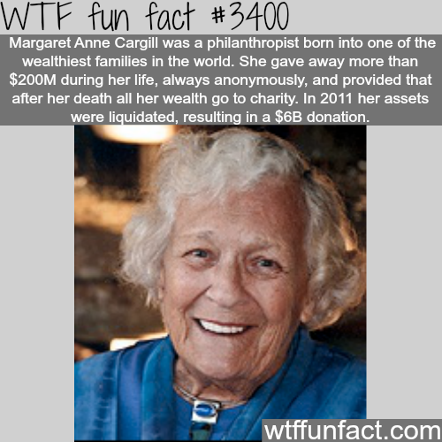 Margaret Ann Cargill - WTF fun facts