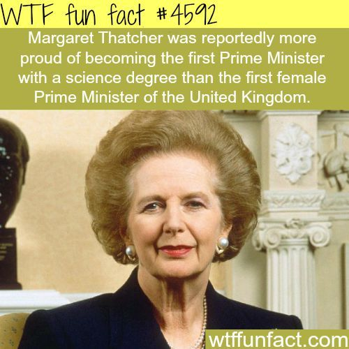 Margaret Thatcher -   WTF fun facts