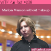 marilyn manson without makeup