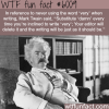 mark twain wtf fun facts