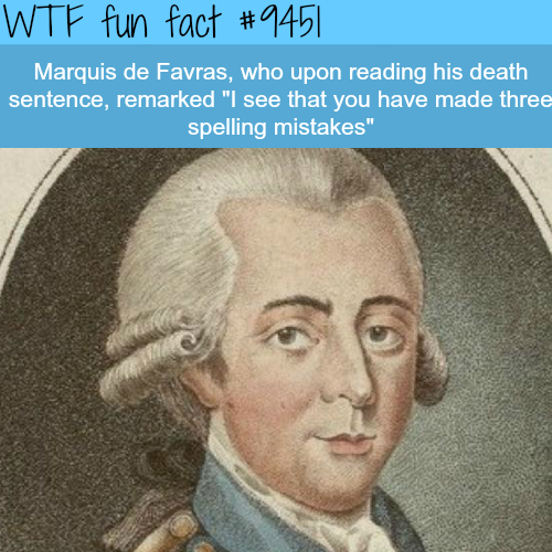 Marquis de Favras - WTF fun fact