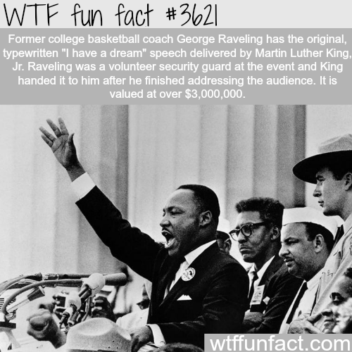 Martin Luther King's speech is worth more than 3 million dollars -  WTF fun facts
