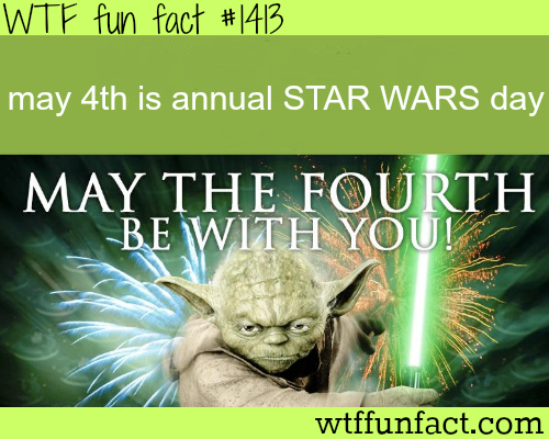 May thefourthbe with you