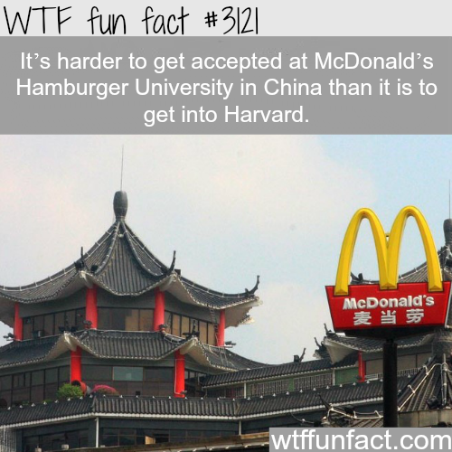 McDonald's Hamburger University in China -WTF fun facts