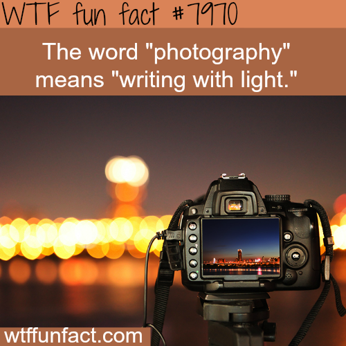 Meaning of the word photography - WTF fun fact