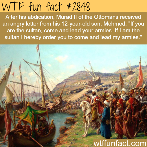 Mehmed The Conqueror Facts -WTF fun facts