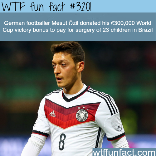 Mesut Ozil Donates his bonus to Brazilian children-  WTF fun facts