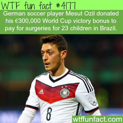 Mesut Ozil donates his World Cup bonus to children in Brazil -  WTF fun facts