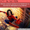 michael jackson wanted to be spiderman wtf fun