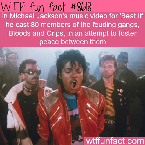 Michael Jackson's beat it - WTF fun facts