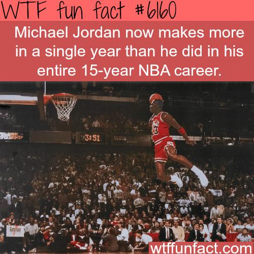 Michael Jordan's net worth - WTF fun facts