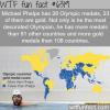 michael phelps has more gold medas than 100