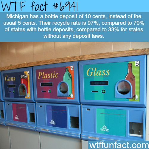Michigan bottle deposits - WTF fun fact