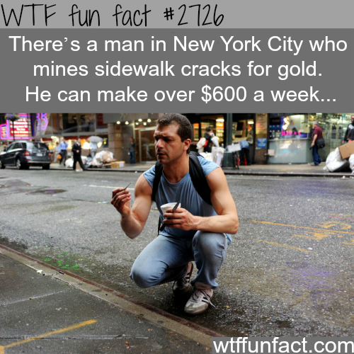 Mining in the streets of NYC -WTF funfacts