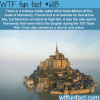 mont saint michel wtf fun fact