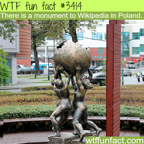Monument of Wikipedia in Poland -  WTF fun facts