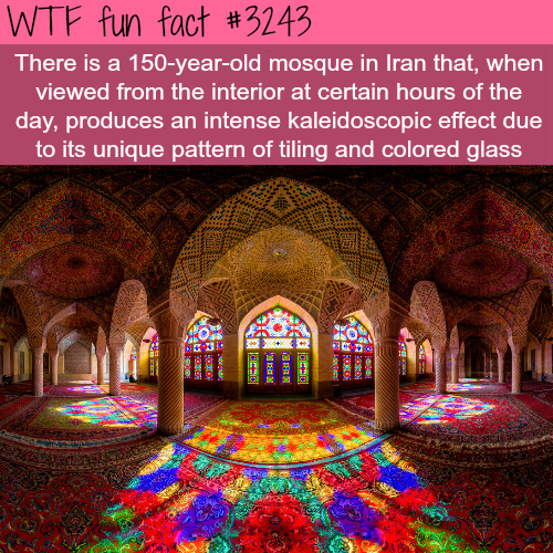 Mosque in Iran that produces a kaleidoscopic effect -  WTF fun facts