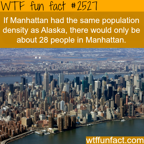 Most Densely Places in the U.S. and the World - WTF fun facts
