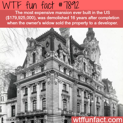 Most expensive mansion ever built in America - WTF fun facts