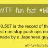 most push ups
