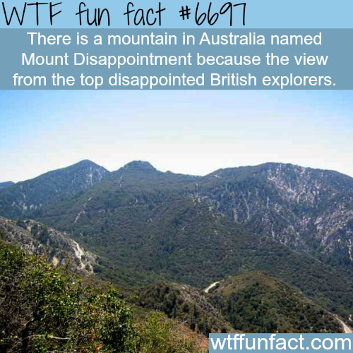 Mount Disappointment - WTF fun fact