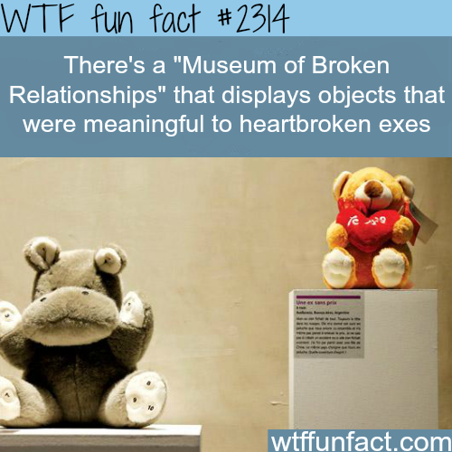 Museum of Broken Relationships - WTF fun facts