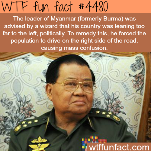 Myanmar's 'superstitious' leaders -   WTF fun facts
