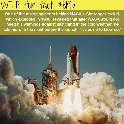 NASA's predicted the Challenger rocket explosion… - WTF fun fact