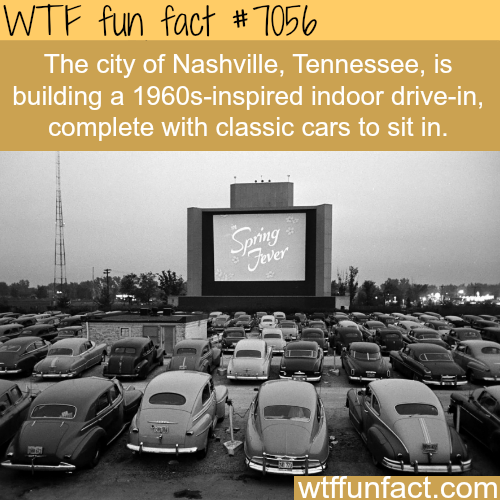 Nashville is trying to build an indoor drive-in - WTF fun facts