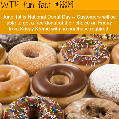 National Donut Day - WTF fun facts